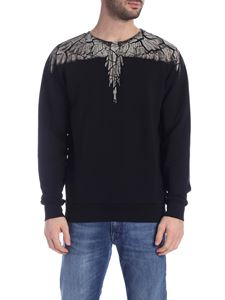Marcelo Burlon County Of Milan - Felpa Earth Wings nera