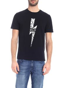 Neil Barrett - Thunderbolt logo print T-shirt in black
