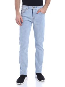 Versace Jeans Couture - Slim jeans in light blue stretch cotton