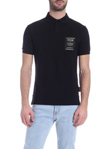 Versace Jeans Couture - Black polo shirt with logo on the chest