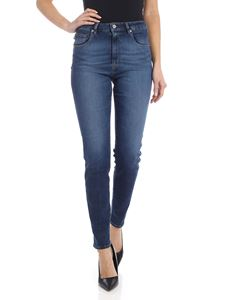 Love Moschino - 5 pocket blue jeans with logo detail