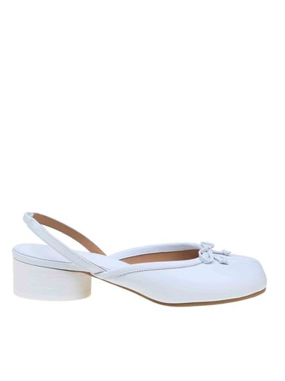 Maison Margiela - Tabi ballerinas in white with strap