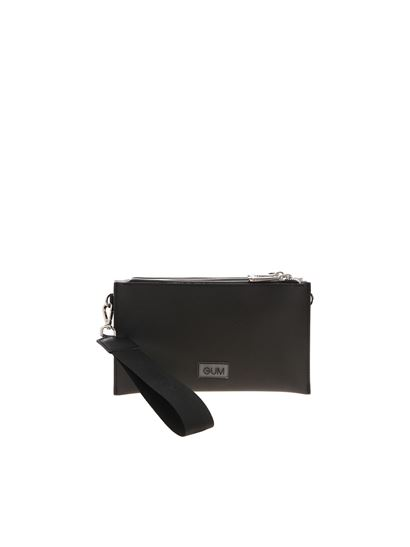 Gum Gianni Chiarini - Branded shoulder bag in black gold and silver