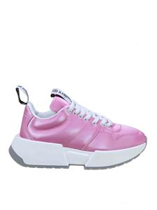 MM6 Maison Margiela - Branded pull loop sneakers in fuchsia