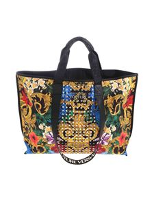 Versace Jeans Couture - Floral Baroque tote with studs