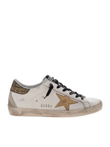 Golden Goose - Sneakers Superstar bianche con logo dorato