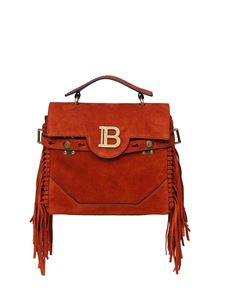 Balmain - B-Buzz 23 shoulder bag in rust color