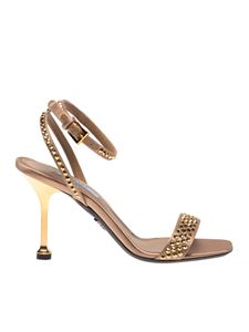 Prada - Sandals with gold-colored heel