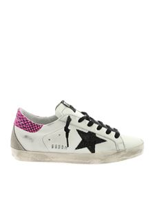 Golden Goose - Superstar sneakers in white with reptile detail