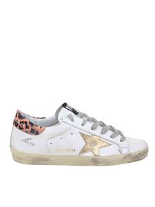 Golden Goose - White Superstar sneakers with animal print detail