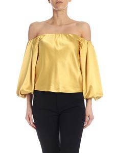 Pinko - Mousse blouse in golden yellow