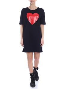 Love Moschino - Heart dress in red and black cotton