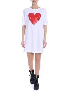 Love Moschino - Heart dress in white and red cotton