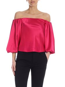 Pinko - Blusa Mousse color rosso magenta