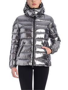 Moncler - Bady down jacket in laminated silver