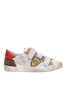 Philippe Model - Sneakers Rips Fancy Blanc Rouge Leo