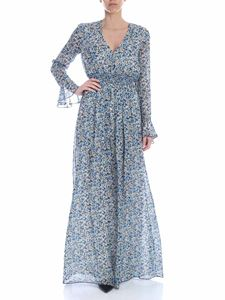 Dondup - Floral dress in shades of blue