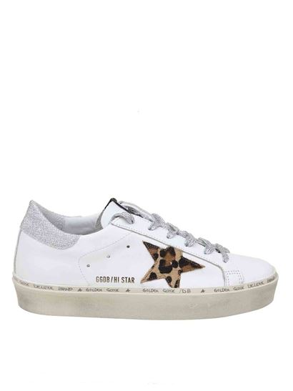 Golden Goose - Hi Star sneakers in white and animal print