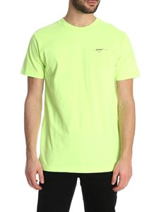 Off-White - Arrow Logo SS T-shirt in neon yellow