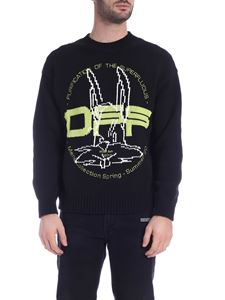 Off-White - Pullover Harry The Bunny nero
