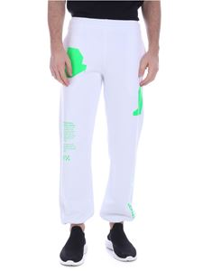 Off-White - Pantalone Arch Shapes bianco