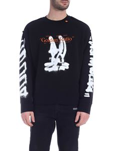Off-White - Felpa Cartoon Incompiuto nero