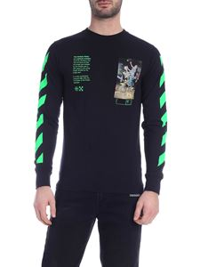 Off-White - T-shirt Pascal Painting LS nera