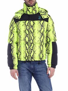 Off-White - Snake down jacket in neon yellow