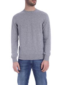 Drumohr - Crew neck pullover in melange light gray