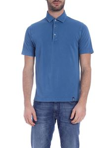 Drumohr - Polo shirt in light blue with logo