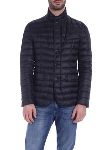 Herno - Down jacket in black with logo