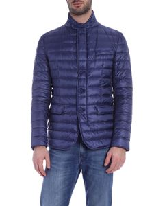 Herno - Down jacket in blue with logo