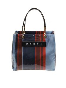 Marni - Glossy Grip bag in blue and red