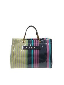 Marni - Multicolor Glossy Grip shopping bag