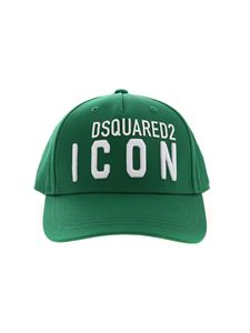 Dsquared2 - Green hat with Icon embroidery