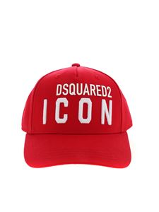 Dsquared2 - Red hat with Icon embroidery