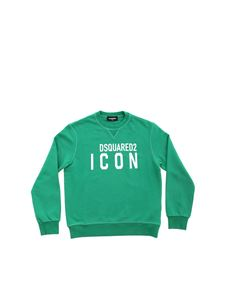 Dsquared2 - Green sweatshirt with white Icon print