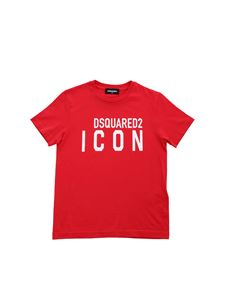 Dsquared2 - Red T-shirt with white Icon print