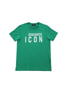 Dsquared2 - Green T-shirt with white Icon print