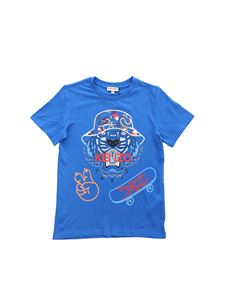 Kenzo - Electric blue Wax Tiger t-shirt