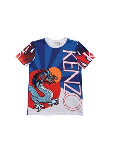 Kenzo - Japanese Dragon t-shirt in shades of blue and red