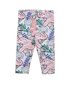 Kenzo - Multi-icon Crazy Jungle white leggings