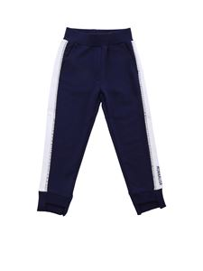 Monnalisa - Blue pants with rhinestone trim
