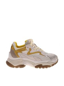 Ash - Addict vintage effect sneakers in white and yellow