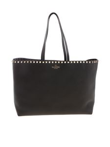 Valentino - Rockstud large shopping bag in black