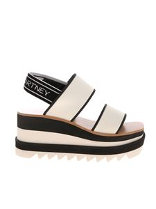 Stella McCartney - Sneak-Elyse sandals in white and black