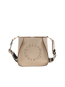 Stella McCartney - Mini bag with logo in ivory color