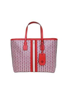 Tory Burch - Shopping Small Gemini Link canvas rosso