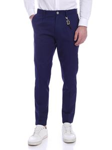 Ribbon Clothing - Pantalone una pince blu