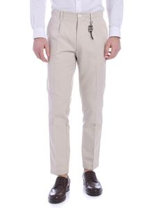 Ribbon Clothing - Pantalone in lino beige con charm